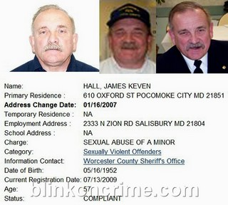 ... OFFICER for Pocomoke City FD, is a registered violent sex offender.